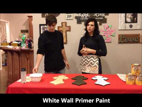 Build-A-Cross.com How To Stain Scripture Cross Part 1