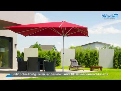 BlueSun® - professionelle Gastronomie-Sonnenschirme auch für privat