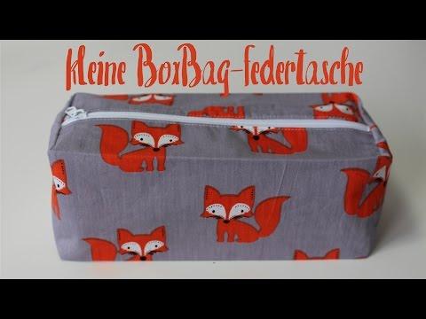 kleine Box Bag Federtasche nähen | Reißverschlusstasche - DIY Tutorial | Nähanleitung