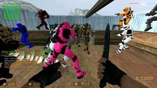 Counter Strike Source Zombie Escape mod online gameplay on icecap Escape map