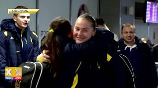 Встреча победоносных волейбольных сборных Украины по волейболу