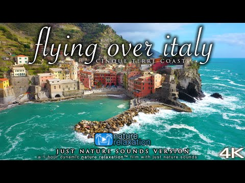 FLYING OVER ITALY (+ Ocean Sounds, no Music) Cinqu | Youtube Search
