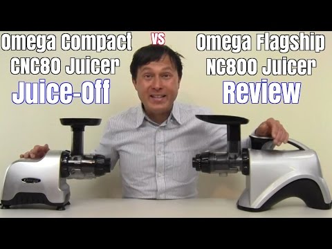 Omega NC800 vs Omega CNC80 Compact Juicer Comparison Review