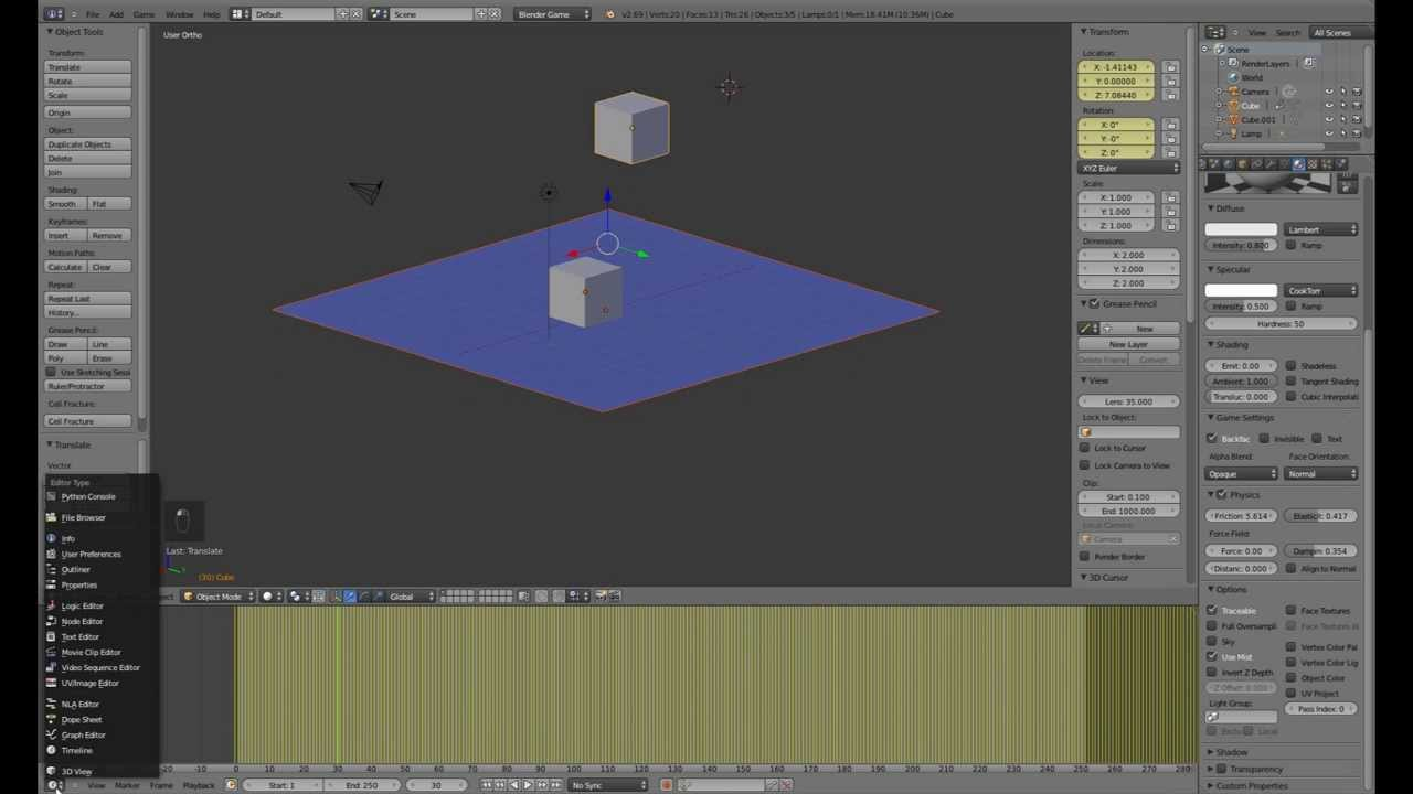 Blender Tutorial #6 - Grundlagen Blender Game Engine [German][HD]