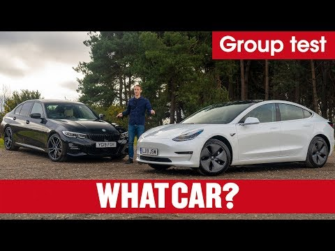 2020 Tesla Model 3 vs BMW 3 Series review – can you really choose electric over petrol? | What Car?