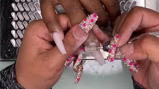 Acrylic Nails Fill Tutorials   Fall Nails   Acrylic Coffin Nails