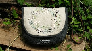 How To Make A Embroidery Quilted Bag Tutorial I 프랑스 자수 가방 만들기