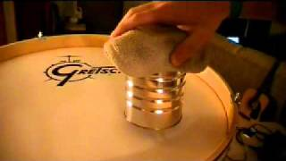 How To Cut/Burn A Porthole (for microphones) In Bass Drum Head