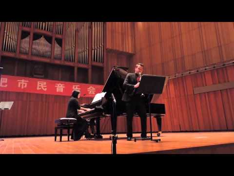 Me performing one of my favorite composers on a tour in China