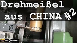 Werkzeugtest Drehmeißel / Ab- bzw. Einstechmeißel aus China | Billig Werkzeug aus China Runde 2