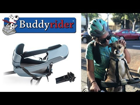 Buddyrider Dog Bicycle Seat Carrier Attachment | More Stable Than Bike Baskets