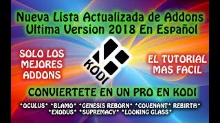 Tutorial: instalar y configurar KODI 2018 Add-on PALANTIR