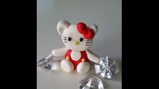 Hello Kitty Aus Fondant Für Muffins  / Gum Paste Hello Kitty Cupcakes