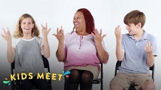 Kids Meet a Deaf Person (Talbott & Vanessa)   Kids Meet   HiHo Kids