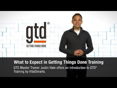Getting Things Done   What to Expect in Training - YouTube