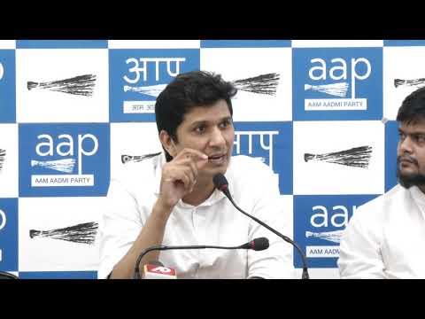 AAP Chief Spokesperson Saurabh Bhardawaj briefs on suspicious death at Khirki Village
