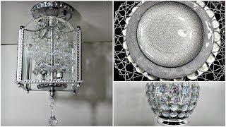 Dollar Tree Glam|| DIY Chandelier || Pier One Inspired Charger & Vase
