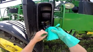 Spraying Aphids and Scouting Crops With Our Channel Agronomist
