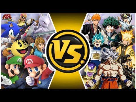 SMASH ULTIMATE vs JUMP FORCE! (Mario & Sonic vs Goku & Naruto TOTAL WAR) | CARTOON FIGHT CLUB EP 300