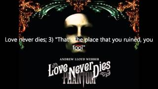 """Love never dies; 3) """"That's the place you ruined, you fool"""" OST"""