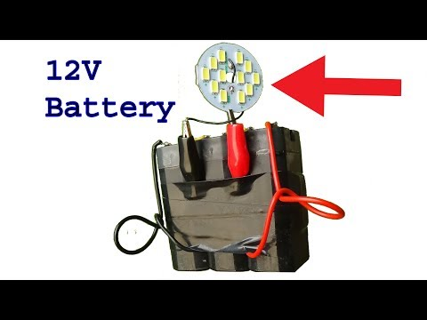 How to make 12 volt battery for room emergency led light,diy battery