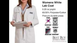 Womens White Lab Coat | Medical Style Lab Coat - Customizable