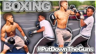 PUBLIC BOXING SESSION 🥊🥊 #PutDownTheGuns