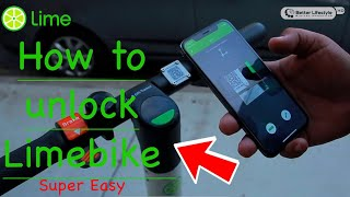 How to unlock a limebike scooter | lime scooter