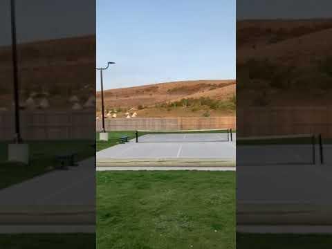 shuffle board, pickle ball, and basketball area
