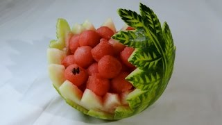 WATERMELON CARVED By J.Pereira Art Carving Fruits And Vegetables