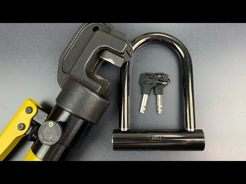 """[781] Hydraulic Cutter vs. Bell's14mm Shackle """"Catalyst 200"""" Bicycle U-Lock"""
