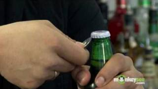 Open a Beer Bottle Using a Spoon