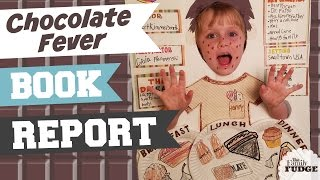 School BOOK REPORT Fun || KIDS Book Review || CHOCOLATE FEVER