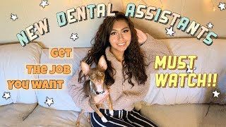 6 Tips for NEW Dental Assistants | How to get your first job 🦷