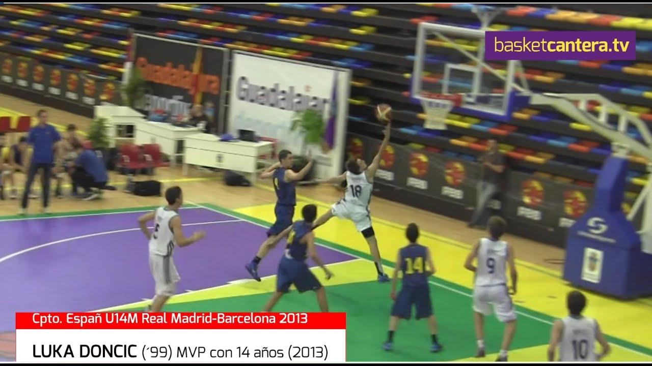 LUKA DONCIC (´99) con14 años (2013) HIGHLIGHTS. MVP Campeonato de España U14M (BasketCantera.TV)