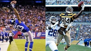 WHO CAN GET A ONE HANDED CATCH FIRST?!? OBJ VS ANTONIO BROWN!!