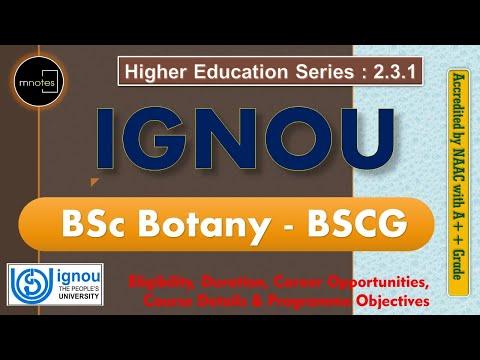 IGNOU   B Sc Botany  IGNOU in Malayalam  IGNOU BSCG