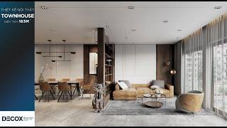 Mẫu thiết kế nội thất nhà phố rộng 183m2 theo phong cách Hiện...