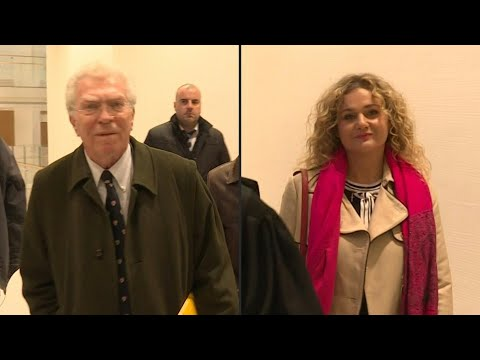 Procès en diffamation: arrivées au tribunal de Pierre Joxe et Ariane Fornia | AFP Images