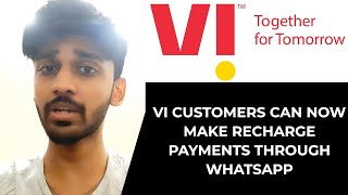 Vi customers can now make recharge payments through WhatsApp | TECHBYTES