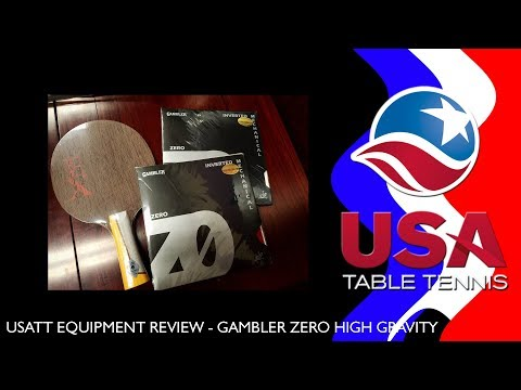 USATT Equipment Review – Gambler Zero Table Tennis Rubber