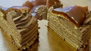 Dobostorte - Schokoladencreme mit Karamellglasur