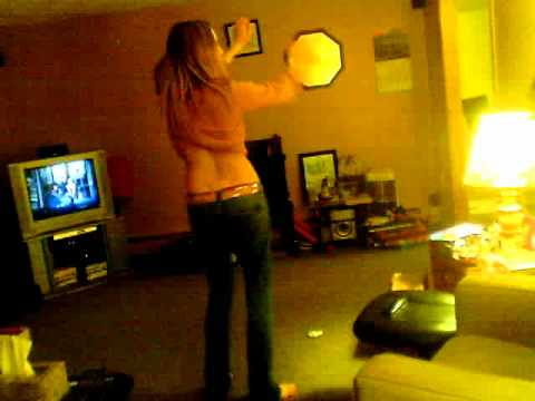 Cute teen girl dancing to gimmie dat base