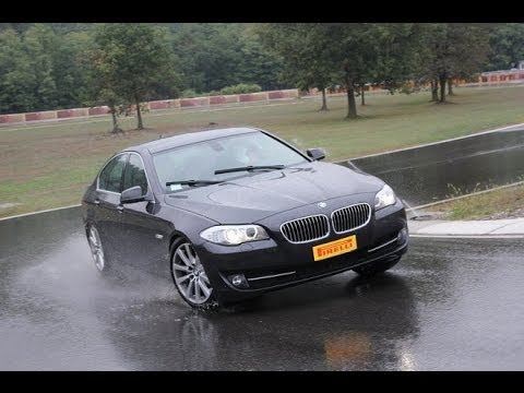 Pirelli P7 Cinturato: wet track test with Bmw and Audi
