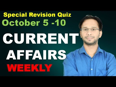 Weekly 5-10 |October  Current Affairs 2020|✍ | Current Affairs Today | Daily Current Affairs 2020