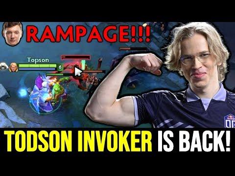 TOPSON is back! Signature Invoker ft Rampage Resolut1on Gorgc Dota 2