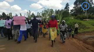 Sugarcane farmers protest the delayed release of the sugar report