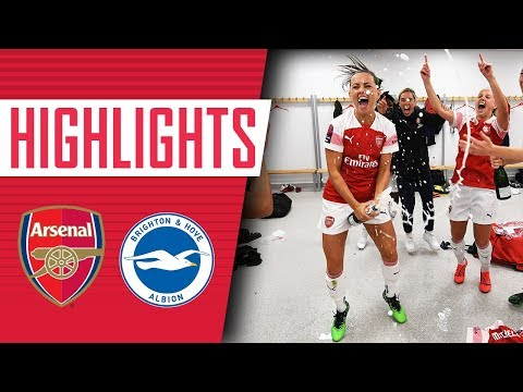 🏆 CHAMPIONS! Arsenal Women 4 - 0 Brighton | Goals, Highlights & Celebrations