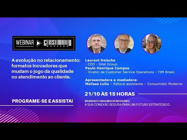 Webinar CM: Sitel Group e TIM Brasil | A evolução do relacionamento