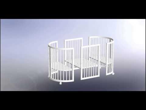 Comfortbaby das ovale babybett kinderbett 5 in 1 aufbauanleitung